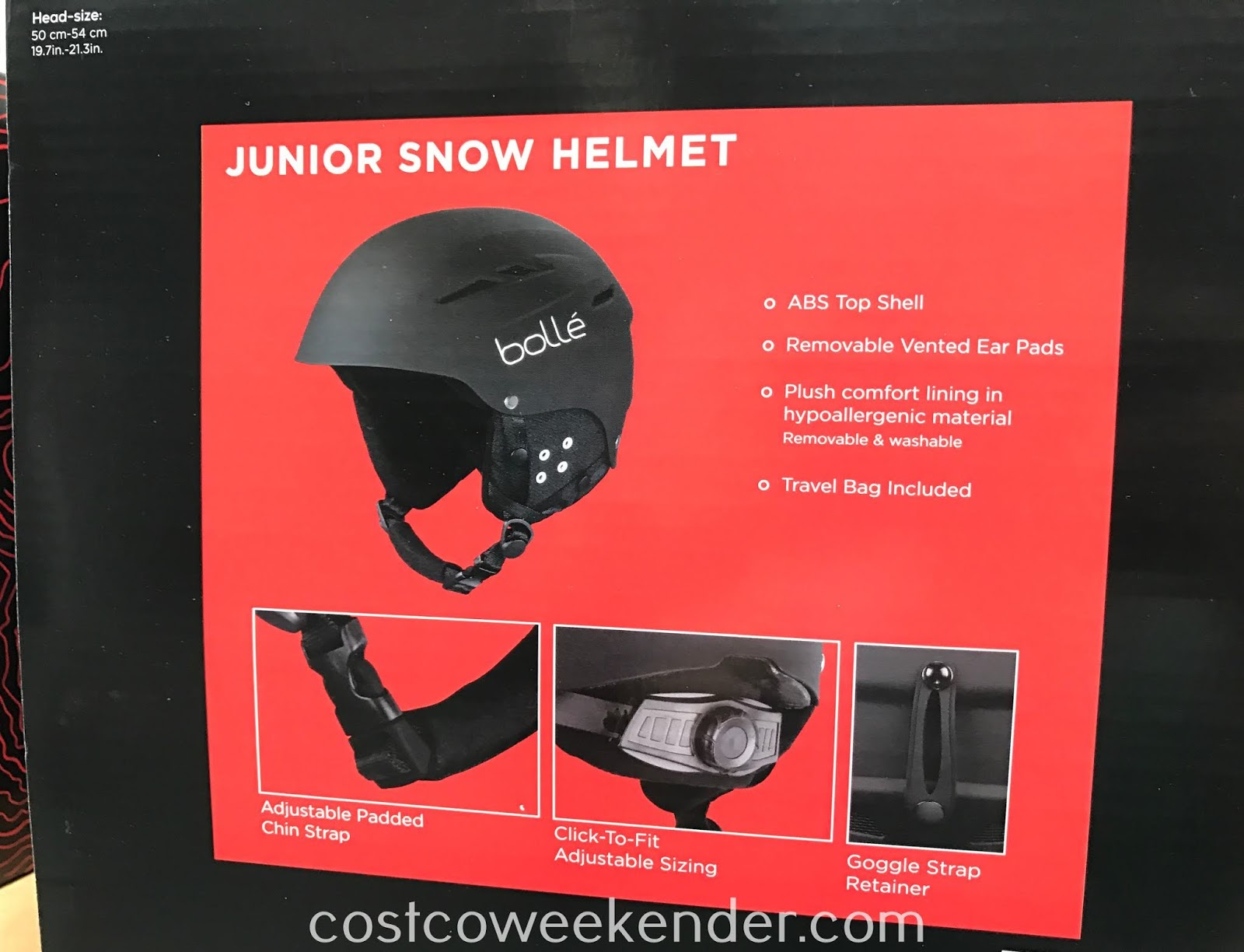 Costco 2000501 - Enjoy winter this season safely with the Bolle Junior Snow Helmet