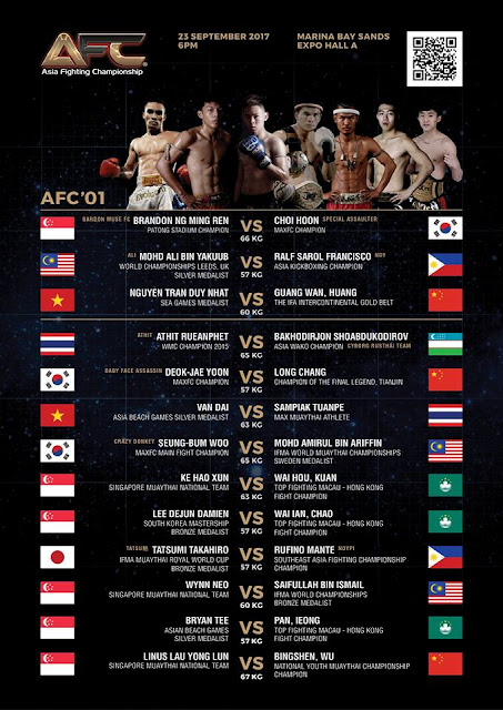 Singapore Inaugural Asia Fighting Championship In