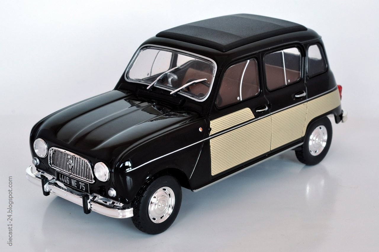 diecast 1 24 auto vintage france 7 renault 4 parisienne. Black Bedroom Furniture Sets. Home Design Ideas