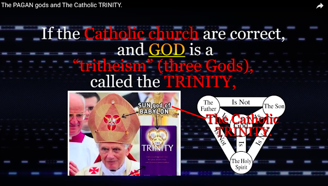 "If the Catholic Church are correct, and GOD is a ""tritheism"" (three Gods), called the TRINITY,"