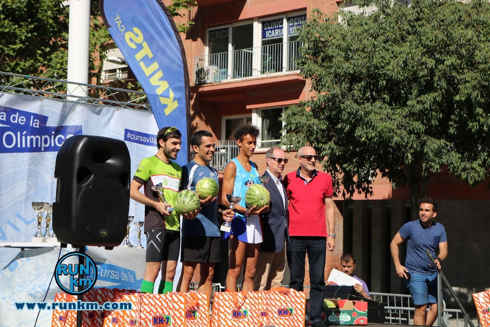Podio Masculino 5K - Cursa Vila Olímpica 2017