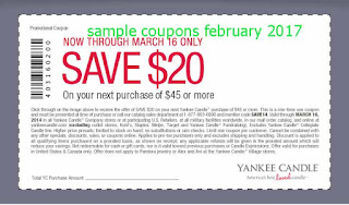 Yankee Candle coupons february