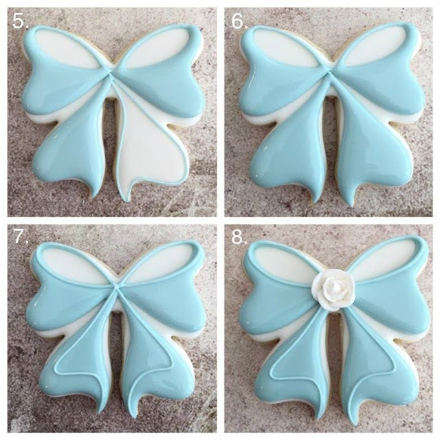 Decorated sugar cookie bow tutorial