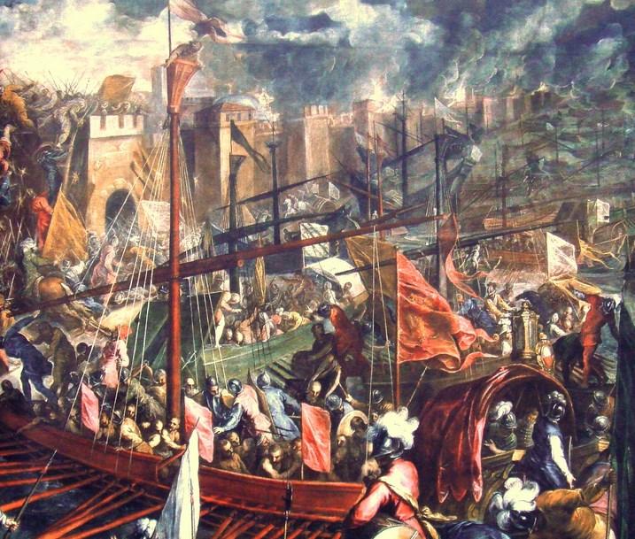 Prajurit Salib IV mengepung Bizantium