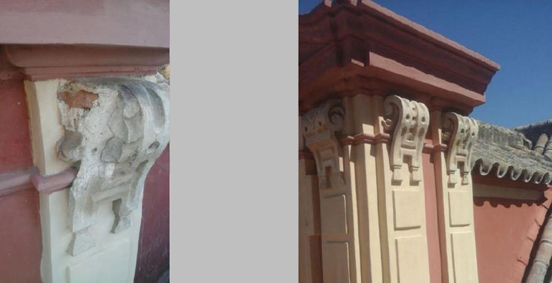 Arquitectura campos alcaide restauraci n de fachadas en palacio arzobispal de sevilla fachada - Escuela tecnica superior de arquitectura sevilla ...