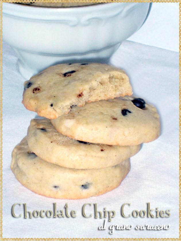 Chocolate Chip Cookies al grano saraceno