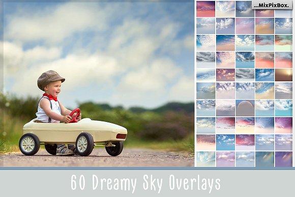 60 Dreamy Sky: 60 Lớp phủ Bầu trời Giấc mơ – 300 DPI – 5700 x 4900 pixel