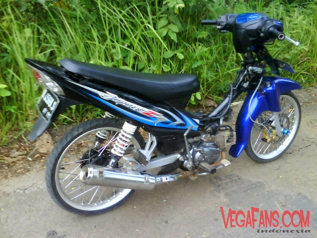 Jupiter Z Biru Hitam Modif Simple