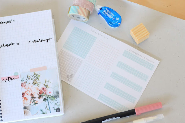 Descargable: cuadritos pasteles para tu bullet journal