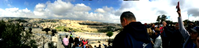 Panorama of the Mount of Olives Israel