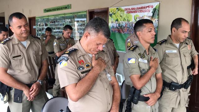 ARAGUATINS: Capelania Militar Evangélica do 9º BPM promoveu celebração na manhã desta segunda-feira (20). Veja vídeo.