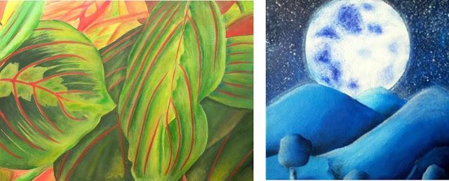tableaux abstrait coloré