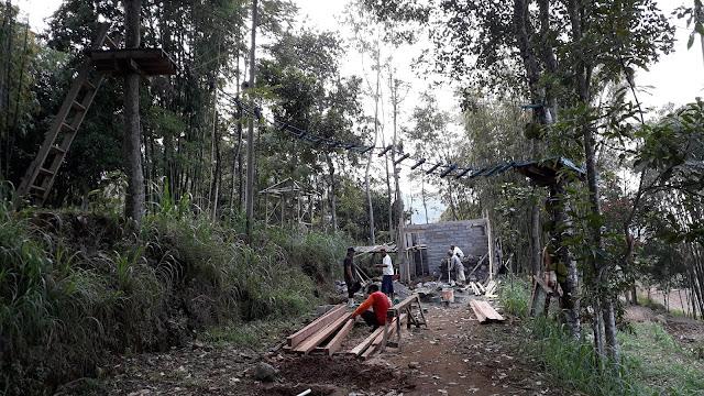 Area outbond Kampung Menari Tanon