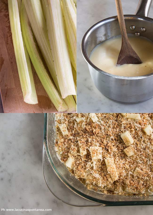 Gratin cardi con preparazione e foto della vellutata vegetale