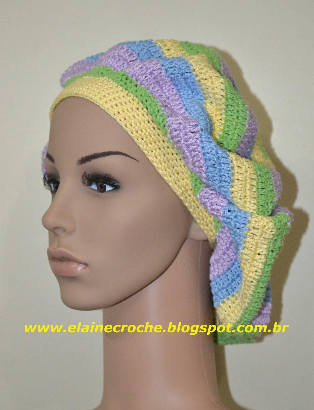 6a9c31f651312 Boina Rasta em Crochê usando fio 100% algodão e agulha de Crochê Clover 2