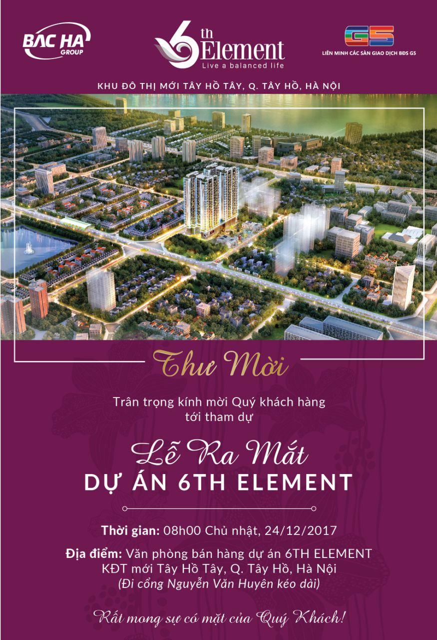 Thư mời ra mắt dự án 6th Element (24/12/2017)