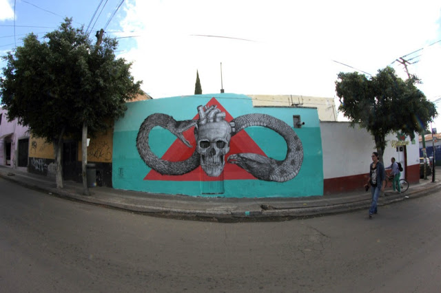 Street Art By Alexis Diaz For Board Dripper In Queretaro, Mexico. 9