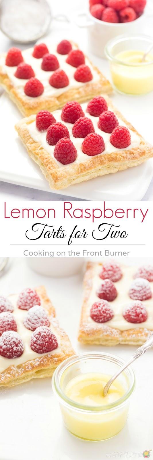Lemon Raspberry Tarts | Cooking on the Front Burner