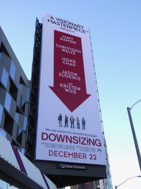 Downsizing movie billboard