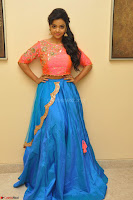 Nithya Shetty in Orange Choli at Kalamandir Foundation 7th anniversary Celebrations ~  Actress Galleries 018.JPG
