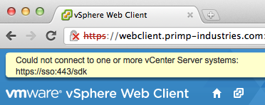 Seperating Out the vCenter SSO, vSphere Web Client and