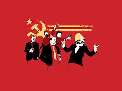 Tag der deutschen Einheit Party lustige Bilder Marxs, Lenin, Stalin, Kommunismus