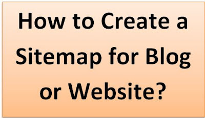 how to create a sitemap for blog or website