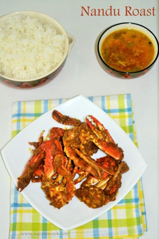 Kerala Style Nandu Roast Recipe Nadan Njandu Roast Spicy Crab Roast In Kerala Style Happy S Cook
