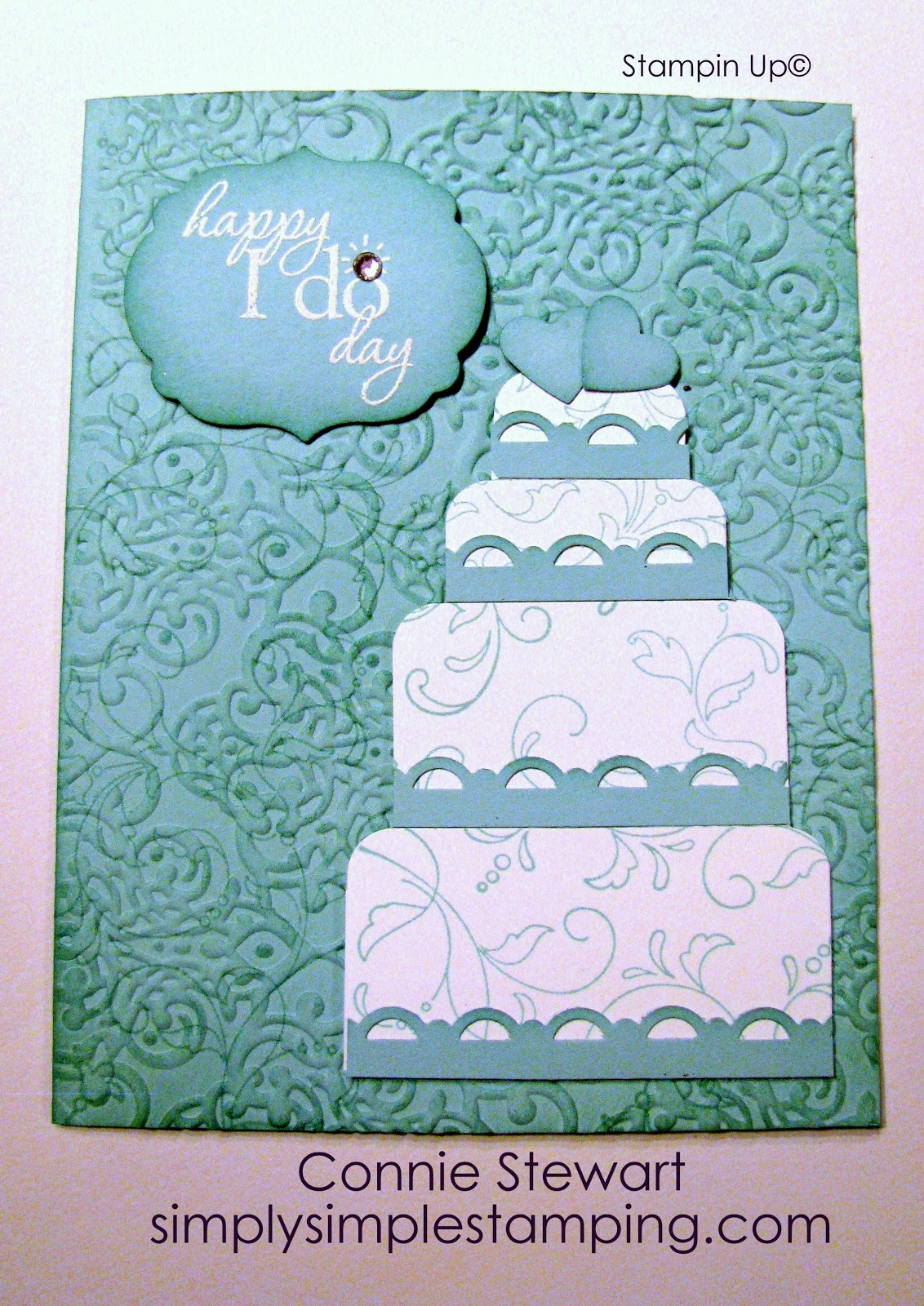 FLASH CARD - Wedding Cake - Video No  20 - Simply Simple