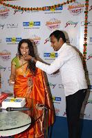 Marath Actrss Urmila Kanitkar Celetes Gudi Padwa in Orange Saree 06.JPG