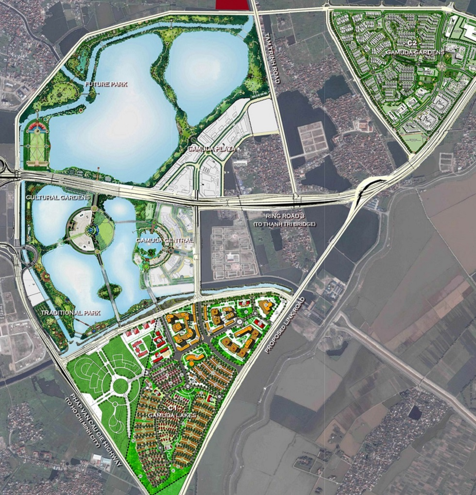 Quần thể dự án Gamuda City ( bao gồm Gamuda Gardens, Gamuda Lakes và Gamuda Central)