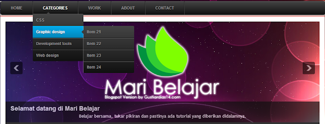 Membuat menu drop down animasi css3 di blog