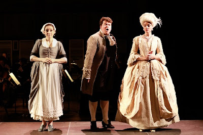 Mozart: La finta semplice - Ninetta (Chiara Skerath), Don Polidoro (Alessandro Fisher), Rosina (Regula Mühlemann) - Classical Opera (Photo Benjamin Ealovega)