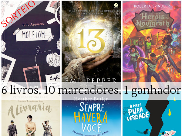 Sorteio: 6º Aniversário do Seguindo o Coelho Branco - 6 livros, 10 marcadores, 1 ganhador