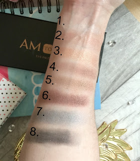 george am to pm eyeshadow palette swatch