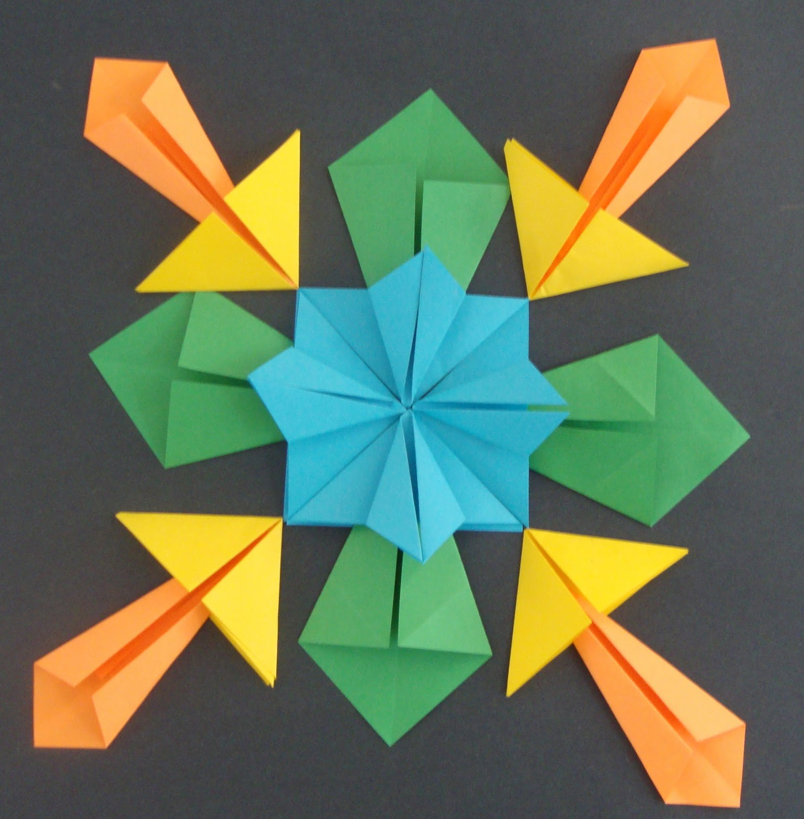Art Paper Scissors Glue Symmetrical Origami