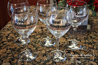 Decorated Wine Glasses For Sale