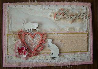 скрап,открытка,конверт,свадьба,коты,кошка,эмбоссинг,чипборд,чипик,акрил,краска,микробисер,бисер,цветы,кружево