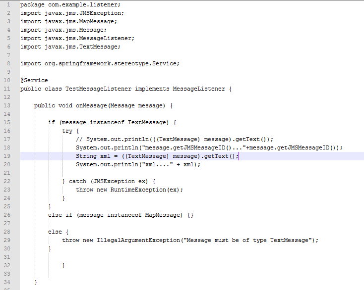 Spring jms code with ibm websphere mq example