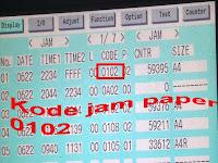mesin fotocopy jam tapi tidak ada kertas sangkut: kode jam 0102 ir 4570