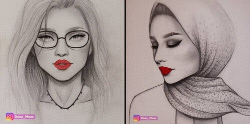 00-Doaa-Moaz-Female-Portrait-Drawings-www-designstack-co