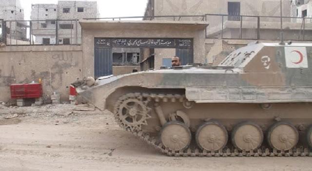 الجيش يتقدم في الحجر الاسود و يستعيد السيطرة على دوار البلدية -فيديو