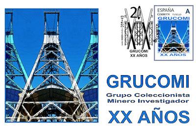 Tarjeta postal de la XX Exposición de Coleccionismo Minero de GRUCOMI