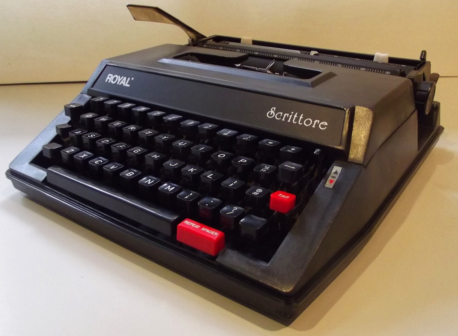 """... typewriter is still for sale as the Royal Scrittore - at $US119. This  """"revived Royal"""" model was reviewed by me in my first """"Portables, ETCetera""""  column, ..."""