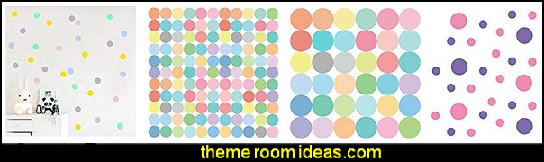 pastel polka wall decals  polka dot bedroom decorating ideas - polka dot wall decals -  polka dot bedroom theme - bedroom circles - polka dots decor  - polka dot wall murals - polka dot bedding - Polka Dot decals - polka dot walls - polka dot pillows - polka dot comforters - polka dot duvets -