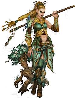 Druida Elfa feita por Anna Christenson