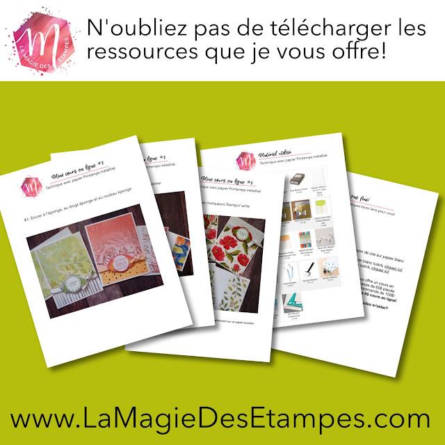 téléchargez le résumé du mini cours en ligne #2 offert par Marika Lemay La Magie des étampes