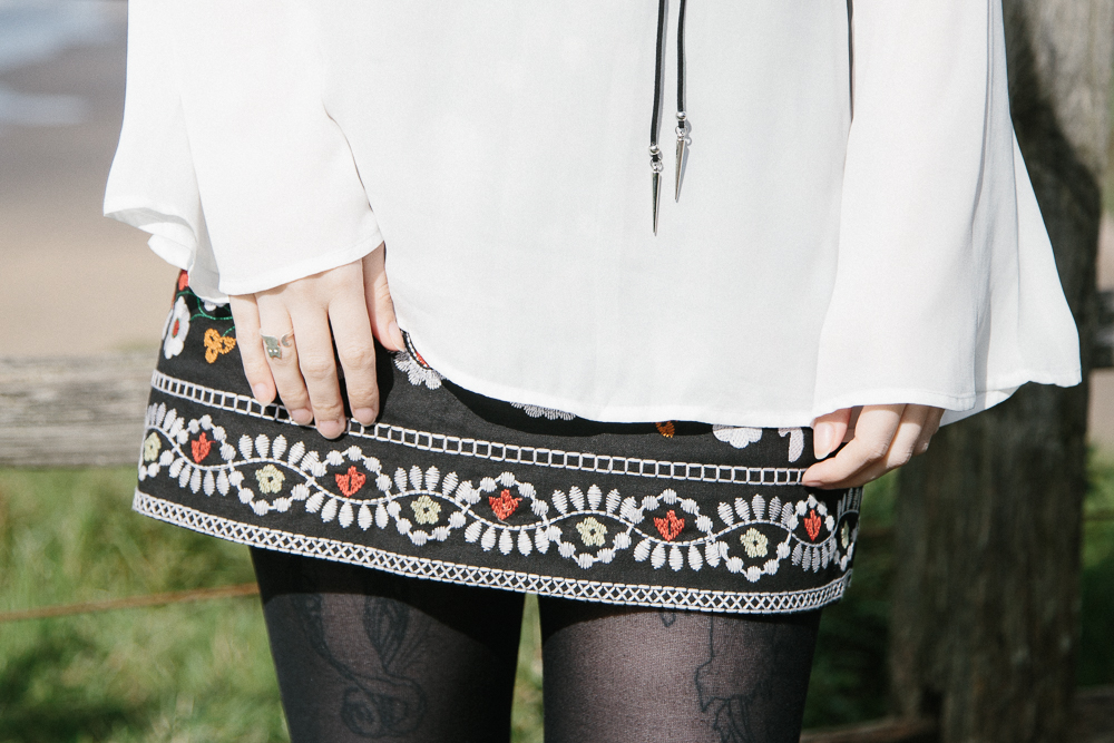 The Embroidered Skirt | OOTD with Gamiss