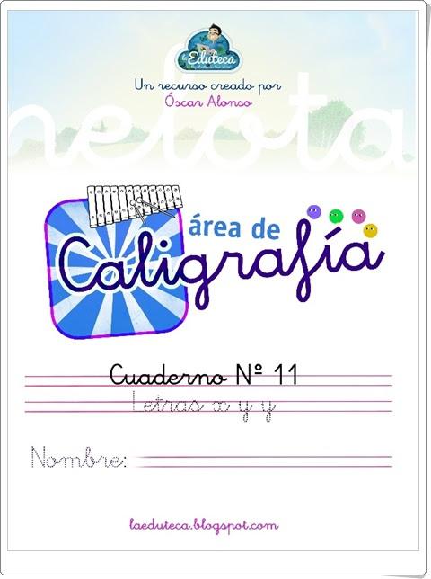"""Cuadernillo de Caligrafía: Letras """"x"""" e """"y""""  (Lengua Española de 1º de Primaria)"""