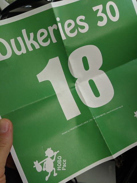 Green race number 18 for Dukeries 30